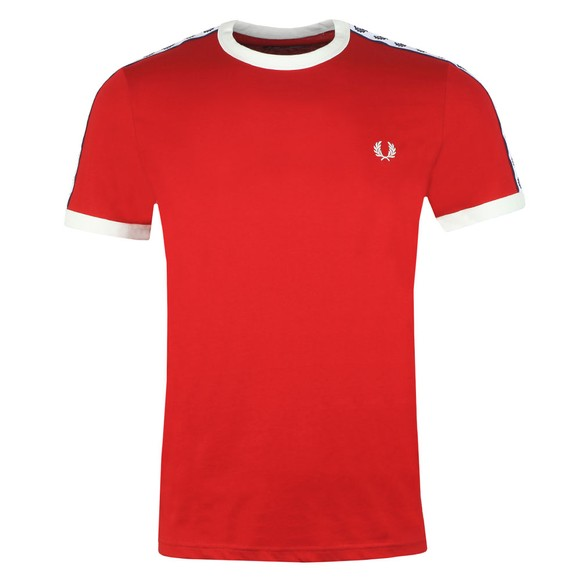 Fred Perry Sportswear Mens Red Taped Ringer T-Shirt main image