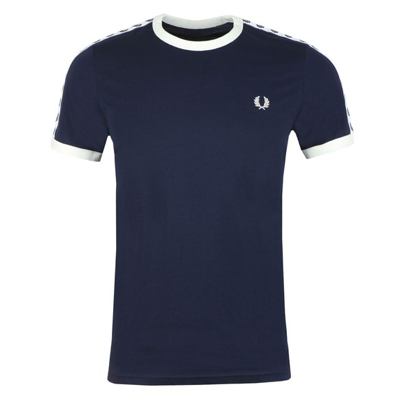 Fred Perry Sportswear Mens Blue Taped Ringer T-Shirt main image
