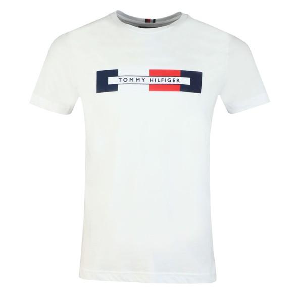 Tommy Hilfiger Mens White Box RWB Logo Tee main image