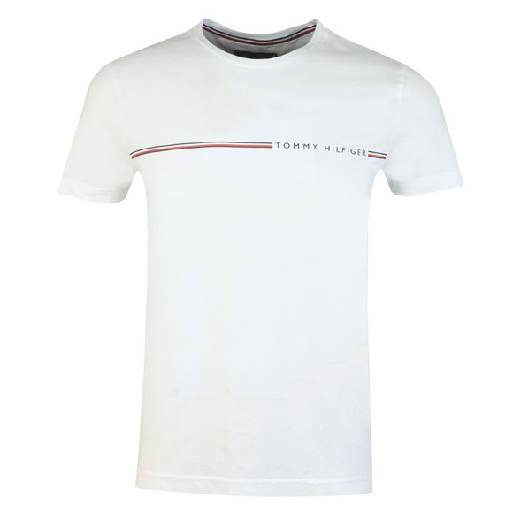 Tommy Hilfiger Mens White Stripe Tee main image