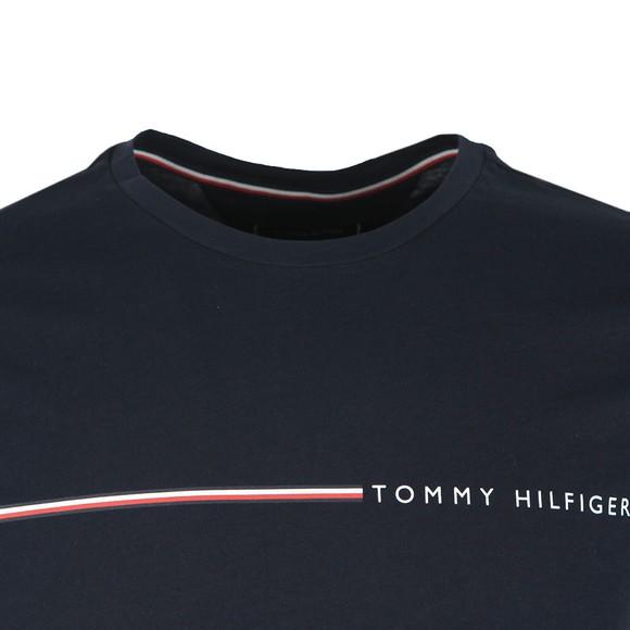 Tommy Hilfiger Mens Blue Stripe Tee main image