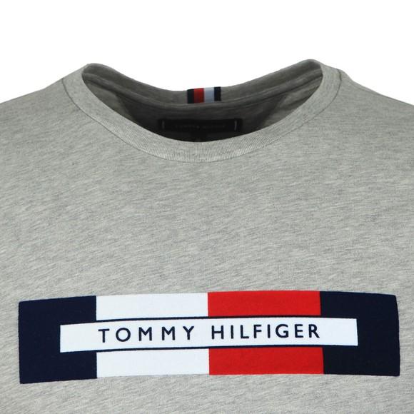 Tommy Hilfiger Mens Grey Box RWB Logo Tee main image