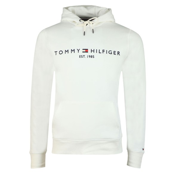 Tommy Hilfiger Mens Off-White Logo Hoody main image