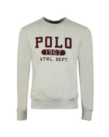 Polo Ralph Lauren Mens Grey Athletic Logo Sweatshirt