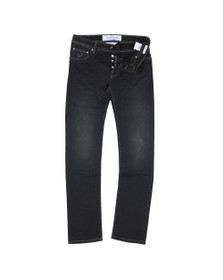 Jacob Cohen Mens Black J622 Comfort Slim Jean