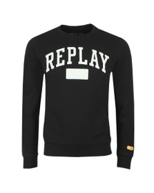 Replay Mens Black Logo Sweat
