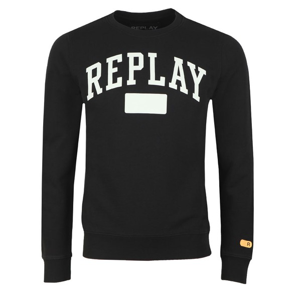 Replay Mens Black Logo Sweat main image
