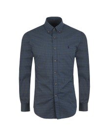Polo Ralph Lauren Mens Blue Slim Fit Stretch Check Shirt