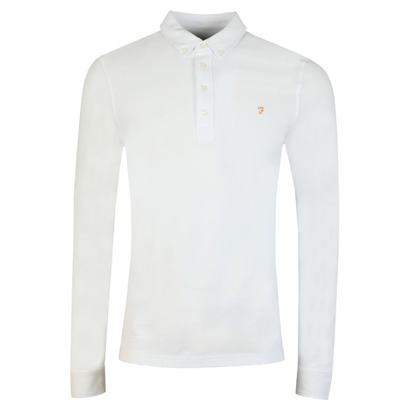 Farah Mens White Ricky LS Polo