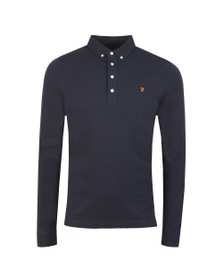 Farah Mens Blue Ricky LS Polo