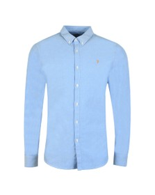 Farah Mens Blue Brewer Oxford Shirt