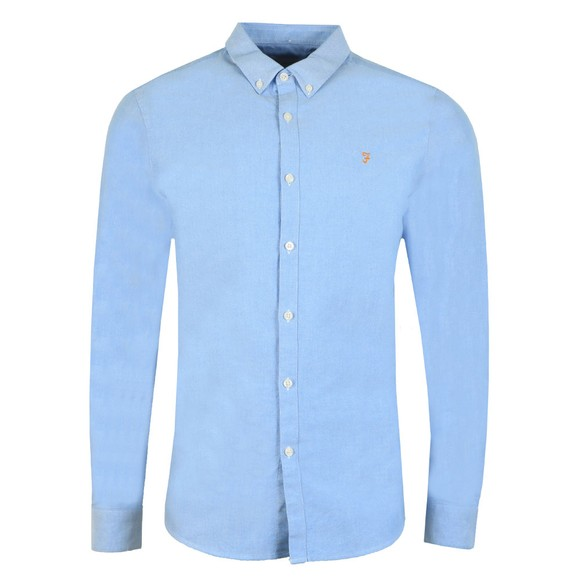 Farah Mens Blue Brewer Oxford Shirt main image
