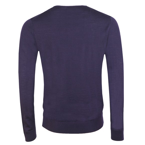 Farah Mens Purple Mullen Wool Crew Jumper main image