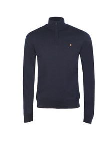 Farah Mens Blue Redchurch 1/4 Zip Jumper