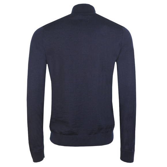 Farah Mens Blue Redchurch 1/4 Zip Jumper main image