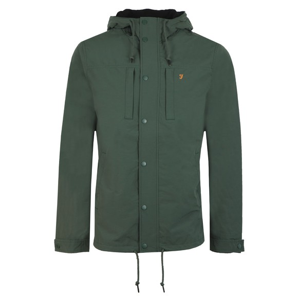Farah Mens Green Maguire Fleece Lined Jacket