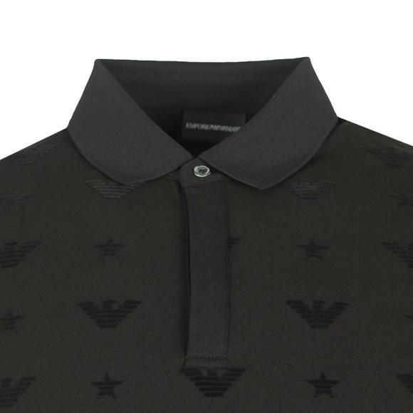 Emporio Armani Mens Black 6G1F81 Jersey Polo Shirt main image