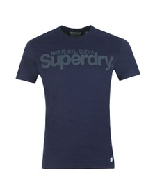 Superdry Mens Blue Retro Sport Tonal Tee