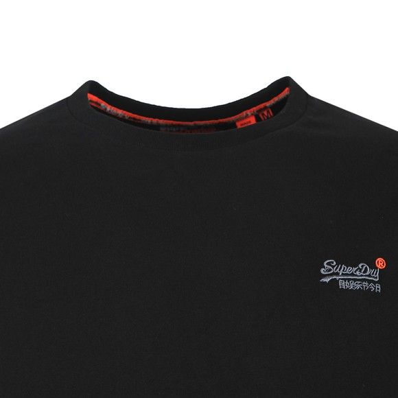 Superdry Mens Black O L Vintage Embroidery LS Tee main image