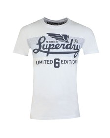 Superdry Mens White LTD Icarus Clrs Blend Lite Tee
