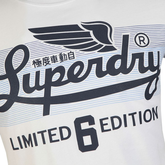 Superdry Mens White LTD Icarus Clrs Blend Lite Tee main image