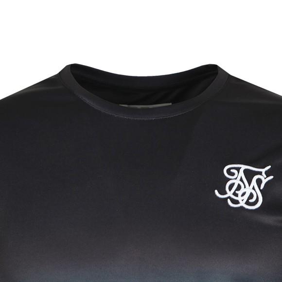 Sik Silk Mens Black/Light Blue Curved Hem Tee main image