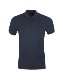 BOSS Mens Blue Athleisure Paule 2 Shoulder Logo Polo Shirt