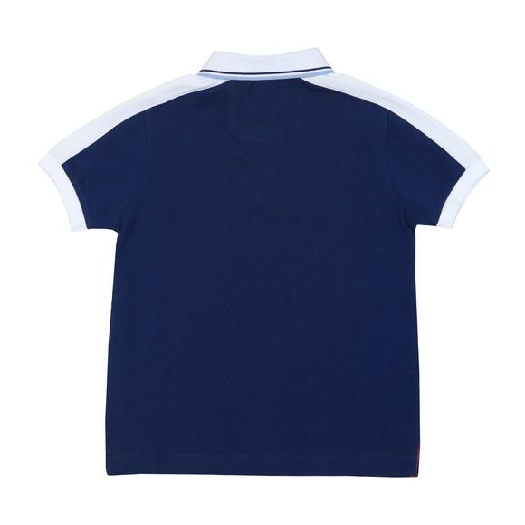 Hackett Boys Blue AMR Stripe Panel Polo Shirt main image