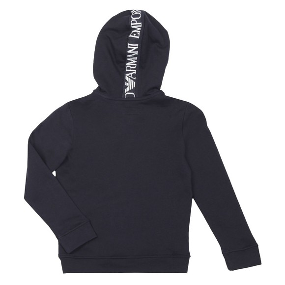 Emporio Armani Boys Blue Eagle Logo Full Zip Hoody main image