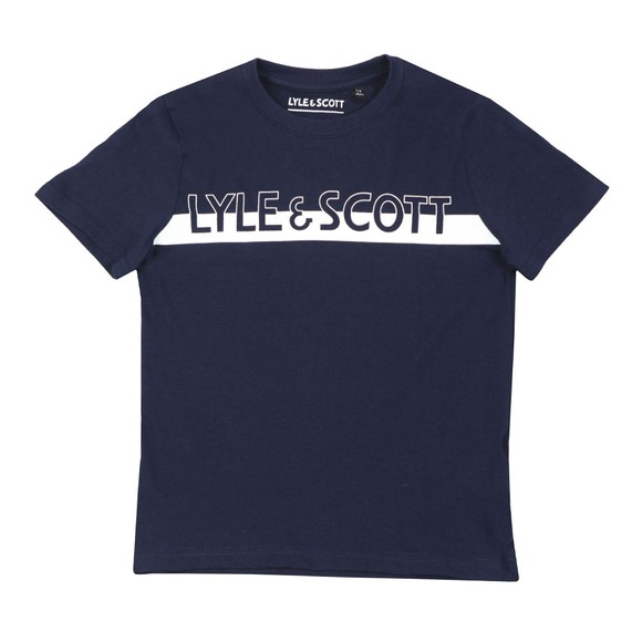 Lyle And Scott Junior Boys Blue Block Logo T  Shirt main image