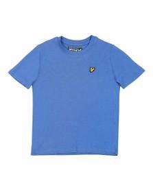 Lyle And Scott Junior Boys Federal Blue Plain Crew T Shirt
