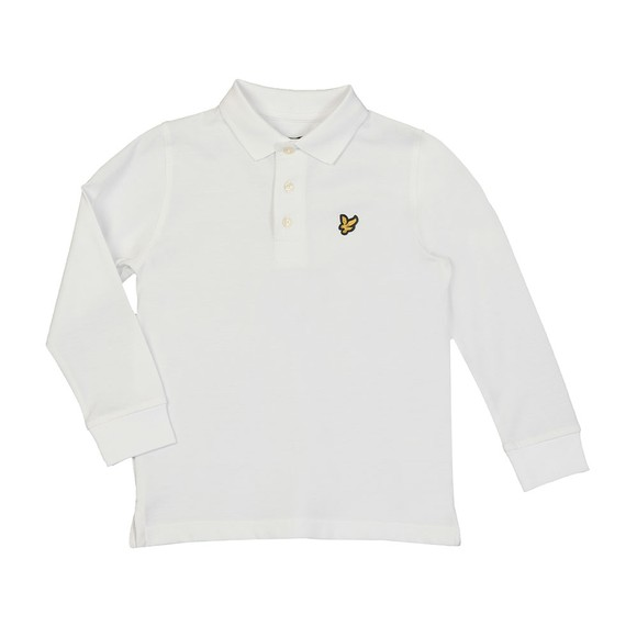 Lyle And Scott Junior Boys White Classic Long Sleeve Polo Shirt main image