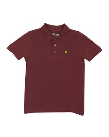 Lyle And Scott Junior Boys Red Classic Marl Polo Shirt