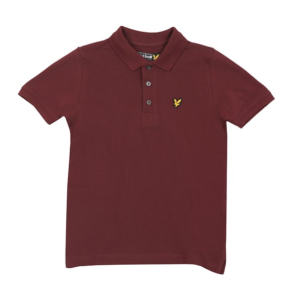 Lyle And Scott Junior Boys Red Classic Marl Polo Shirt main image