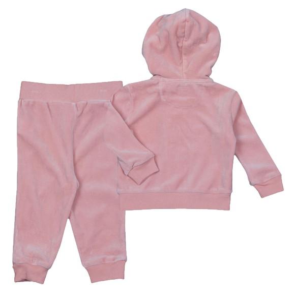 Polo Ralph Lauren Girls Pink Velour Tracksuit main image