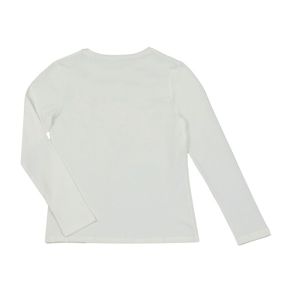 Guess Girls Off-White Stud Logo Jumper