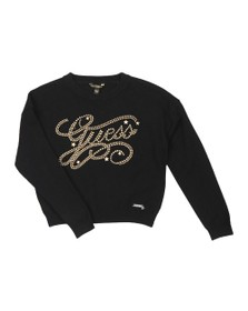 Guess Girls Black Stud Logo Jumper