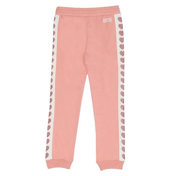 Guess Girls Pink Heart Logo Jogger