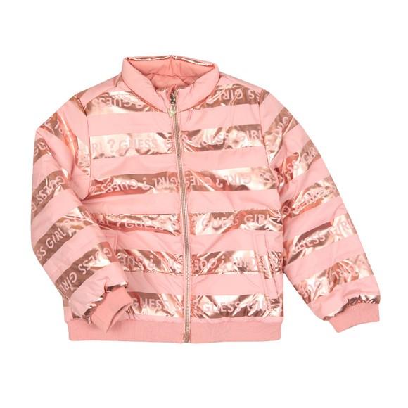 Guess Girls Pink Logo Puffer