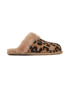 Ugg Womens Brown Scuffette II Leopard Slipper
