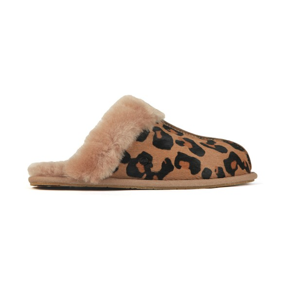 Ugg Womens Brown Scuffette II Leopard Slipper main image