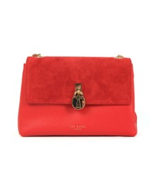 Ted Baker Womens Red Helena Suede Padlock Xbody Bag