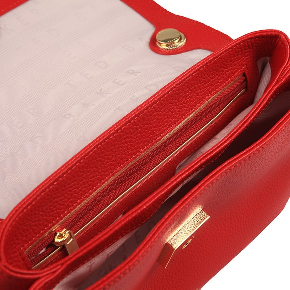 Ted Baker Womens Red Helena Suede Padlock Xbody Bag main image
