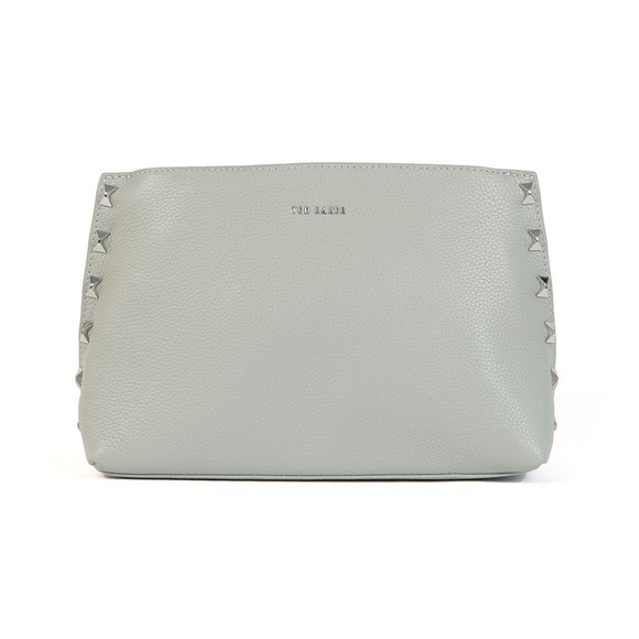 Ted Baker Womens Grey Jemira Bow Stud Clutch Bag