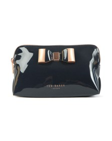 Ted Baker Womens Blue Vivekah Bow Detail Make Up Bag