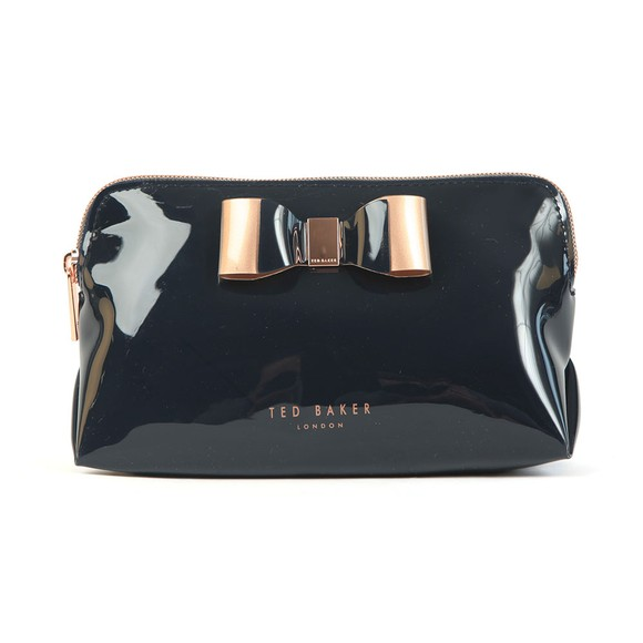 Ted Baker Womens Blue Vivekah Bow Detail Make Up Bag main image