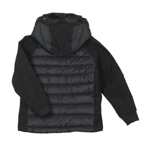 C.P. Company Undersixteen Boys Black CP Shell Mixed Fabric Goggle Jacket