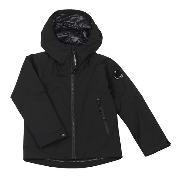 C.P. Company Undersixteen Boys Black Pro Tek Hooded Jacket