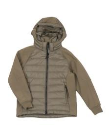 C.P. Company Undersixteen Boys Green CP Shell Mixed Fabric Goggle Jacket