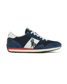 Polo Ralph Lauren Mens Blue Train 90 Suede Trainer